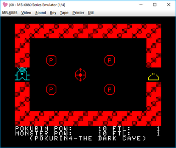 THE DARK CAVE_POKURIN4 ゲーム画面1.png