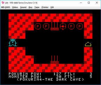 THE DARK CAVE_POKURIN4 ゲーム画面2.png